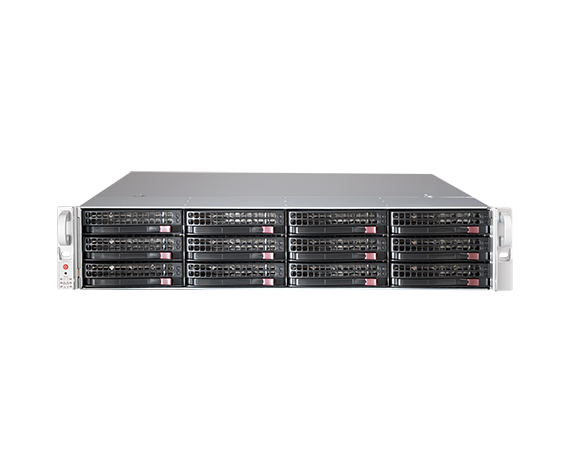 DIGITAL WATCHDOG DW-BJER2U60T-LX Blackjack® E-RACK 2U 12-Bay Chassis 128 Channel 2.1MP 600Mbps NVR (Linux® Ubuntu® 16.04 OS) (60TB HDD Included)