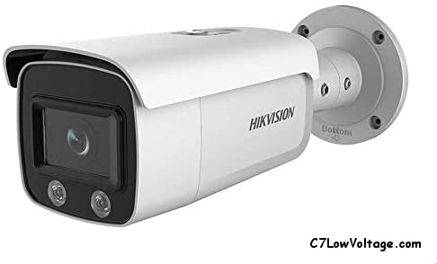 HIKVISION DS-2CD2T47G1-L 6MM Color 4MP Fixed Bullet Outdoor Network Camera with 6mm Fixed Lens, RJ45 Connection