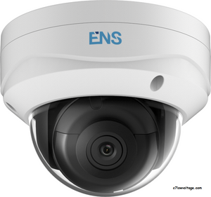 ENS SIP44D3/28-K Starlight 4MP IR WDR PoE 0utdoor Network Dome Camera with 2.8mm Fixed Lens, RJ45 Connection.