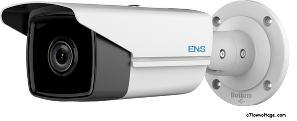 ENS SIP44B5/28-K Starlight 4MP IR WDR Outdoor Network Bullet Camera with 2.8mm Fixed Lens, RJ45 Connection