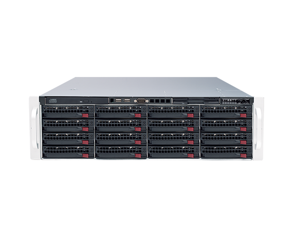 DIGITAL WATCHDOG DW-BJER3U120T Blackjack® E-RACK 3U 16-Bay Chassis 128-Channel 2.1MP 600Mbps RAID 5 Intel® i7® Processor NVR (120TB HDD Included)