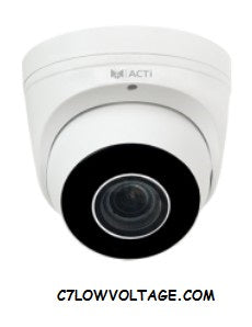 ACTI CORPORATION Z82 4MP Adaptive IR Extreme WDR SLLS Outdoor Network Dome Camera with 2.7-12mm Lens, 4.4x optical Zoom, RJ45 connection.