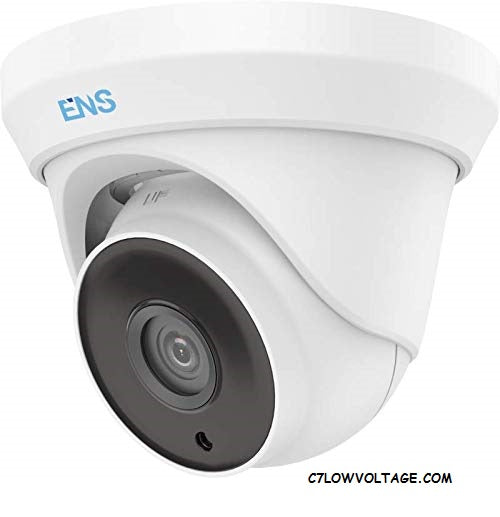 ENS SCC35T4/36-H 5MP IR WDR TVI/AHD/CVI/CVBS HD Turret Outdoor analog Dome camera with 3.6 mm fixed lens, BNC Connection.