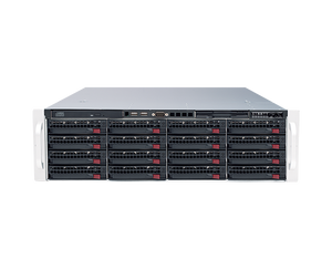 DIGITAL WATCHDOG DW-BJER3U160T Blackjack® E-RACK 3U 16-Bay Chassis 128-Channel 2.1MP 600Mbps RAID 5 Intel® i7® Processor NVR (160TB HDD Included)