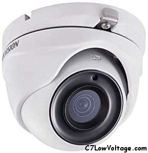 HIKVISION DS-2CE56F7T-ITM 2.8MM 3MP WDR IR Outdoor Analog Turret Camera with 2.8mm Fixed Lens