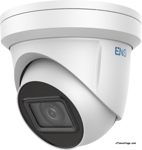 ENS SIP34T3/MZ-C 4MP IR WDR PoE Outdoor Network Turret Dome Camera with 2.8~12 mm varifocal lens, RJ45 Connection