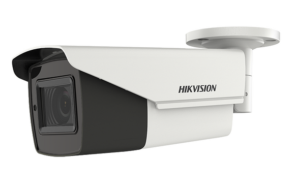HIKVISION DS-2CE19H8T-AIT3ZF 5MP EXIR TurboHD Analog Outdoor Varifocal Ultra Low-Light Bullet Camera with 2.7 mm to 13.5 mm Motorized Varifocal Lens, BNC Connection