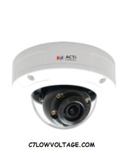 ACTI CORPORATION A96 2MP IR Superior WDR, SLLS Outdoor Network Mini Dome Camera with  2.8mm Fixed Lens, RJ45 connection