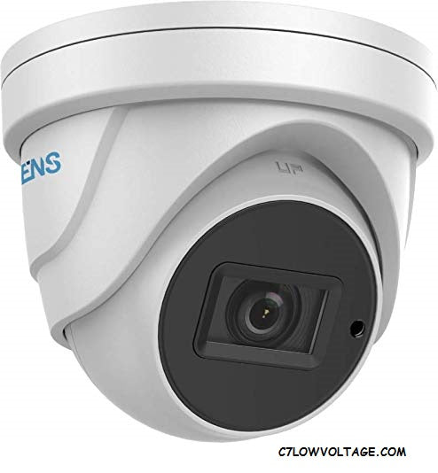 ENS SCC35T4/MZ-H 5MP IR WDR TVI/AHD/CVI/CVBS HD Outdoor analog Turret Dome Camera with 2.7 mm to 13.5 mm motorized vari-focal lens, BNC Connection.