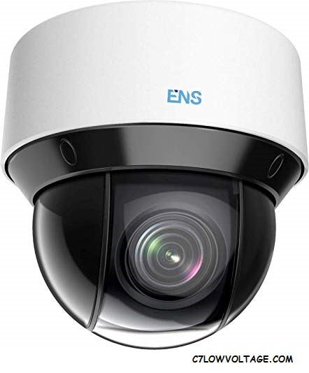ENS SPT4C425IR-E Starlight 4MP IR WDR PoE Network PTZ Outdoor Dome Camera with 4.8-120mm lens 25× optical zoom, 16× digital zoom, RJ45 Connection.