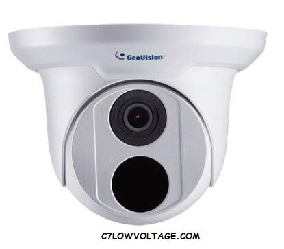 GEOVISION GV-EBD2702 2MP WDR IR PoE Eyeball Network Outdoor Dome camera with 2.8mm lens RJ45 Connection