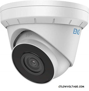 ENS SIP34T3/40-C 4MP IR 3D DNR True WDR Network Outdoor Turret dome Camera with 4.0mm Lens, RJ45 Connection.