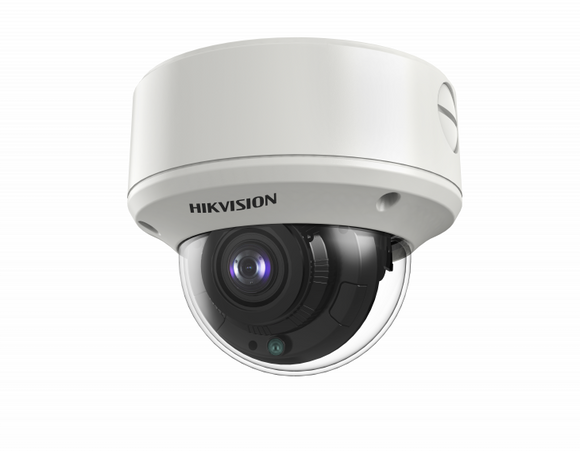 HIKVISION DS-2CE59H8T-AVPIT3ZF 5MP Ultra-Low Light IR Outdoor Varifocal Analog Dome Camera with 2.7 mm to 13.5 mm Motorized Varifocal Lens, BNC Connection