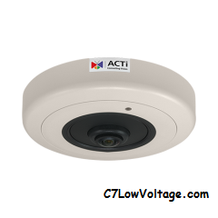 ACTI Corporation B59A 8MP Video Analytics IR PoE Fisheye Dome camera with 1.65mm lens RJ45 CONNECTION