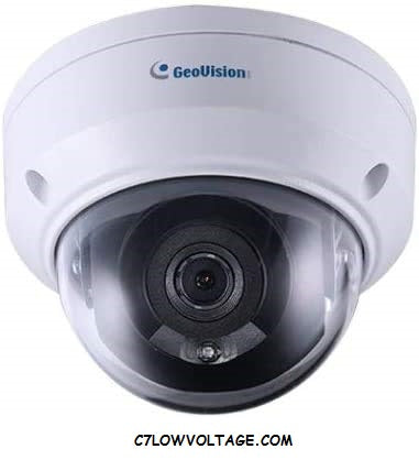 GEOVISION GV-ADR4702 4MP Mini Fixed Rugged IR PoE network outdoor Dome camera with 2.8mm Lens RJ45 Connection