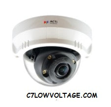 Acti Corporation A63 2MP IR Advanced WDR SLLS Mini Dome with 2.8 mm ~ 8.0 mm, 2.85x optical Zoom, RJ45 connection