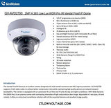 GEOVISION GV-AVD2700 2MP IR WDR Pro Network outdoor Dome Camera with 2.8~12mm, RJ45 CONNECTION