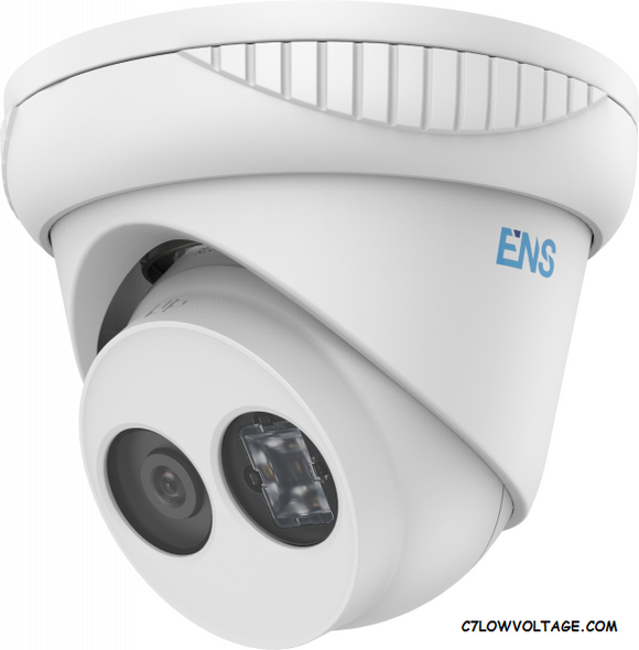 ENS SIP48T3/40-H 8MP IR WDR Network outdoor Turret Dome Camera with 4.0mm fixed lens, RJ45 connection