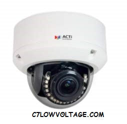 ACTI CORPORATION A84 12MP Adaptive IR, Extreme WDR, SLLS, 4K Ultra HD, Built-in Analytics, Video Analytics Outdoor network Dome Camera with f3.6-11mm/F1.5, 3x Zoom lens, RJ45 Connection