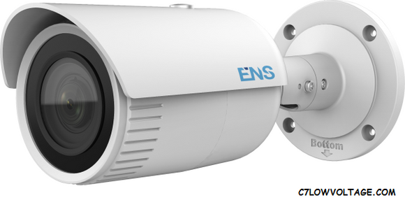 ENS SIP34B3/MZ-C 4MP IR True WDR PoE Network Outdoor Bullet Camera with 2.8-12mm Lens, RJ45 Connection