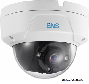 ENS SCC35D2/28-H 5MP IR WDR TVI/AHD/CVI/CVBS HD Outdoor analog Dome Camera with 2.8mm fixed lens, BNC Connection.