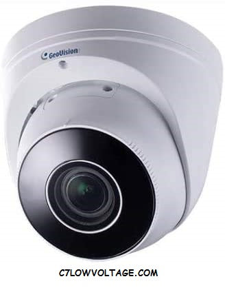 GEOVISION GV-EBD8711 8MP WDR, IR, Eyeball Built-in microphone PoE Network Outdoor Dome Camera with 2.8~12mm lens RJ45 connection