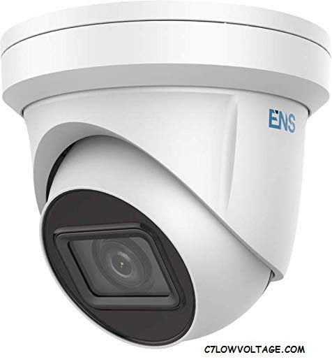 ENS SIP44T3A/MZ-K Starlight 4MP IR WDR PoE Outdoor Turret Network Camera with 2.8 to 12 mm motorized varifocal lens, RJ45 Connection