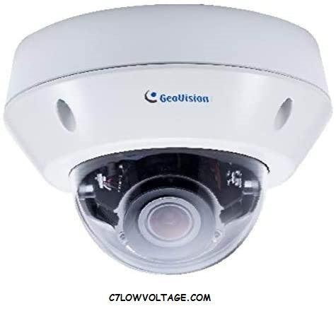 Geovision GV-VD2712 2 Mp IR Super Low Lux WDR network outdoor Dome Camera with 2.8 ~12 mm varifocal lens, RJ45 Connection