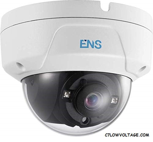 ENS SCC75D3/28-P Starlight 5MP IR WDR TVI/AHD/CVI/CVBS Ultra-Low Light Outdoor Analog Dome Camera with 2.8 mm fixed lens, NBC Connection.