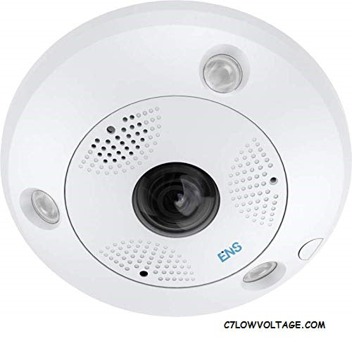 ENS SIPSF6MS/13 6MP IR, True WDR, Built-in microphone and speaker Outdoor Network Fisheye Camera with 1.27mm, RJ45 Connection.