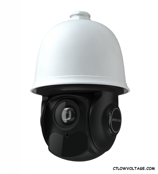ENS IP-5PT4IE3-30X Starlight 4MP IR WDR PoE Power/Bracket Included Network Outdoor PTZ Speed Dome Camera with 4.7-141mm Lens, Powerful 30× Optical Zoom, RJ45 Connection