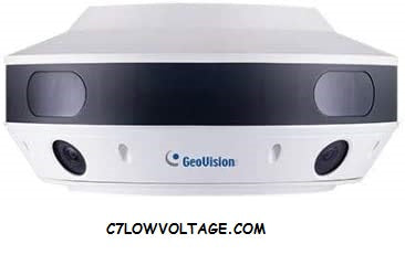 GEOVISION GV-SV48000 12MP H.264 Low Lux WDR IR Surround Video Network Camera with 4×3.93 mm lenses, RJ45 Connection.