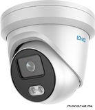 ENS SIP44T3ML/4-U Super Starlight 4MP Color@Night Built-in mic warm LED Turret Outdoor Network Dome Camera with 4mm Lens, RJ45 Connection.