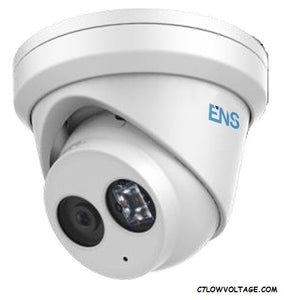 ENS SIP44T3M/28-K 4MP IR WDR Network Turret Dome Camera with 2.8 mm fixed lens, RJ45 Connection