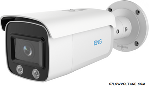 ENS SIP44B5L/4-U Super Starlight 4MP Color@Night WDR Outdoor Bullet Network Camera with 4mm Lens, RJ45 Connection.