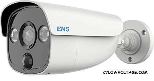 ENS SCC35B2P/28-H 5MP IR WDR PIR outdoor analog Bullet Camera with 2.8 mm fixed lens, BNC Connection.