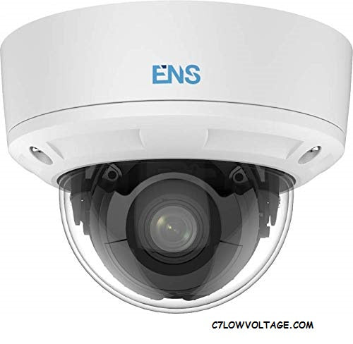 ENS SIP44D3A/MZ-K 4MP IR DWR Dome Network Camera with 2.8 to 12 mm motorized varifocal lens, RJ45 connection
