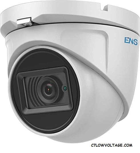 ENS SCC52T3/28-M Starlight 2MP WDR IR Ultra Low Light TVI/AHD/CVI/CVBS Analog Turret Dome Camera with 2,.8 mm fixed lens, BNC Connection.