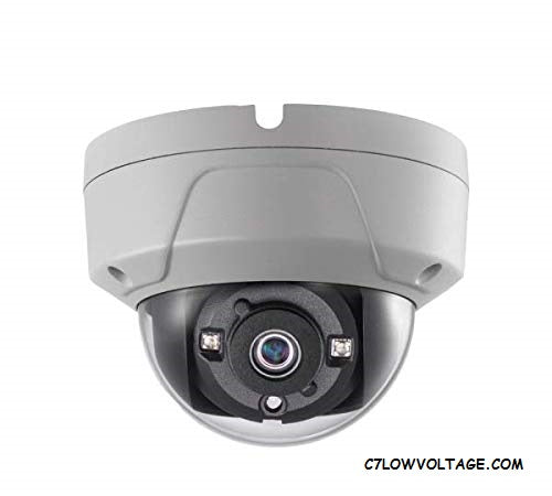 ENS ESAC326-OD/28 5MP IR DWDR 2D DNR TVI/AHD/CVI/CVBS Outdoor Analog Dome Camera with 2.8mm Fixed Lens, BNC Connection