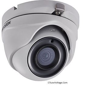 HIKVISION DS-2CE56H5T-ITME 2.8MM 5MP Outdoor Ultra-Low Light PoC Analog Turret Dome Camera with 2.8 mm Fixed Focal Lens, BNC Connection