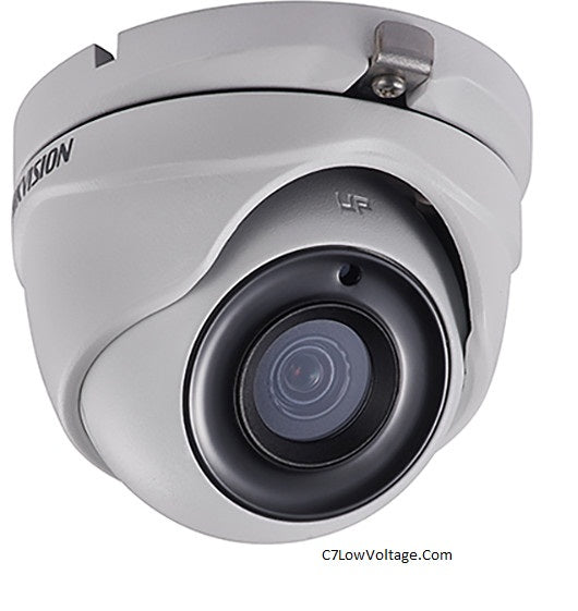 HIKVISION DS-2CE56H5T-ITME 3.6MM 5MP Outdoor Ultra-Low Light PoC Analog Turret Dome Camera with 3.6 mm Fixed Focal Lens, BNC Connection