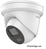 LTS  CMIP3C42W-6M , 4 MP Full Color Fixed Outdoor Turret Network Camera White, 6 mm Lens, RJ45 Connection.