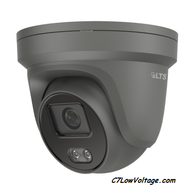 LTS CMIP3C42WB-M, 4 MP Full Color Fixed Turret, Network Camera , 4 mm Lens , weatherproof  IP67. RJ45 Connection , (Black)