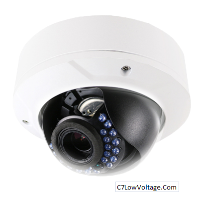 LTS LTCMIP7223W-S, Platinum Varifocal Dome IP Camera,2.1MP,2.8-12mm,True WDR,Audio/Alarm RJ45 Connection