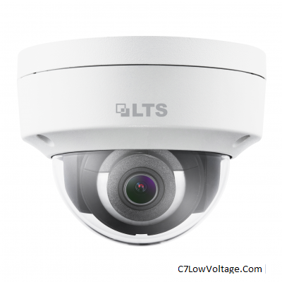 LTS LTCMIP7382W-28M, Network Dome IP Camera, 8MP, 2.8mm, True WDR, Matrix IR 2.0, SD card slot RJ45 Connection