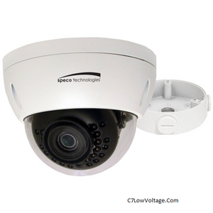 Speco Technologies O4VLD1 4MP Outdoor Network Dome Camera , 2.8mm Fixed Lens with Night Vision, RJ45 Connection .