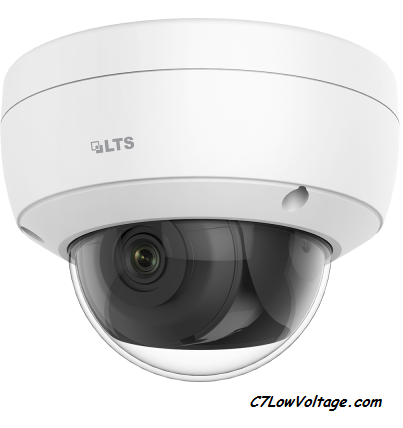 LTS  CMIP7D42W-28MI  4MP 30fps AI Ultra Darksight Dome 0.012 Lux MSDCard Slot, 2.8mm outdoor , RJ45 Connection.