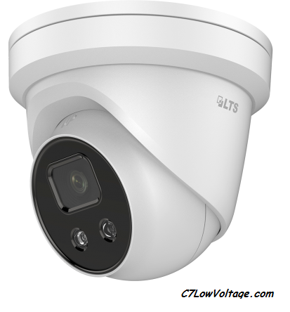 LTS CMIP3D42W-28MI  4MP 30fps AI Ultra Darksight Outoor Network Turret camera 0.012 Lux MSDCard Slot, RJ45 connection.