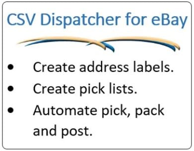 CSV Dispatcher for eBay | Address and Pick List Creation | Asia Sell