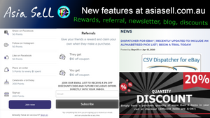 Some new discount/loyalty features at Asia Sell